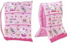 Adorable Earthquake Head Covers - This Hello Kitty Hood is Designed for Earthquake Protection