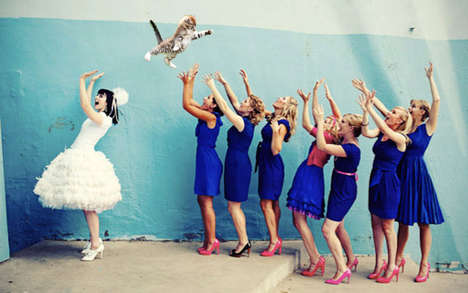 Cat-Throwing Bridal Memes - The Cat Throwing Brides Meme Turns Single Ladies into Cat Ladies