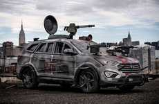Zombie-Killing Suvs (UPDATE) - The Hyundai Santa Fe Zombie Survival Machine Makes its Official Debut