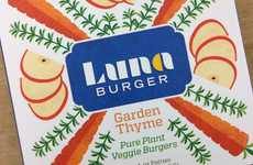 Wholesome Munchies Merchandizing - Luna Burgers Packaging Celebrates Healthiness in its Graphics