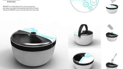 Modern Mobile Saucepans - The Movpot Has a Built-in Element to Bring Cooking Out of the Kitchen