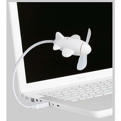 Air-Conditioned USB Aviation Fans - The Airplane USB Fan by 'Kikkerland' Keeps You Cool and Chipper