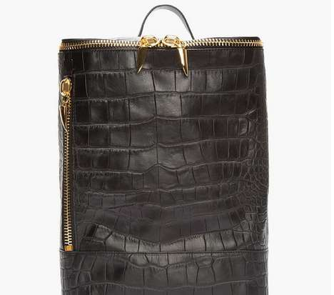 Chic Crocodile Backpacks - Giuseppe Zanetti Designs a Glamorous Alternative to the Traditional Bag