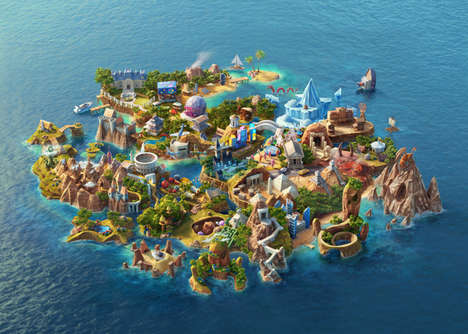 Digital Gambling World Games - 'Casino Saga' is a Mind Blowing Virtual Island Made from Scratch