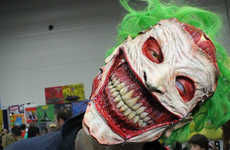 Surreal Super Villain Masks - This Halloween Joker Mask Was Made by the Cinema Makeup School