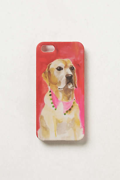 Animal Art Mobile Protectors - The Brushstroke Pup iPhone 5 Case from Anthropologie is Charming