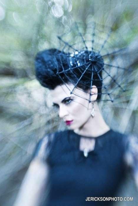 Glamorous Goth Headpieces