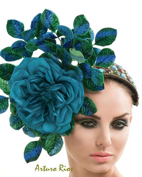 Flamboyant Floral Headpieces
