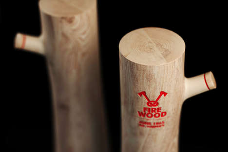 Chopped Log Bottles - Firewood Vodka Packaging Alludes to the Inner Warm Felt by the Product