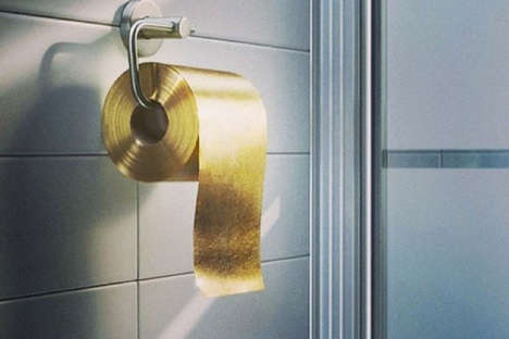 Billionaire Bathroom Tissues - 22 Carat Gold Toilet Paper Roll is the Most Expensive Disposable Item