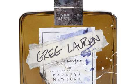 Workbench-Branded Fragrances - Greg Lauren Cologne Packaging Bears the Messy Mark of its Maker