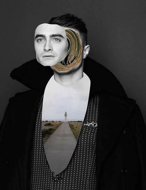 Surreal Actor Editorials - The Daniel Radcliffe Flaunt Magazine Cover Story is Artfully Bold