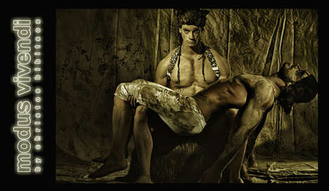 Clay-Clad Underwear Campaigns - Modus Vivendi's Safari Line is for the Truly Adventurous