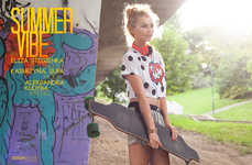 Girly Skater Portrayals - The Summer Vibe Design Scene Exclusive is Youthfully Chic