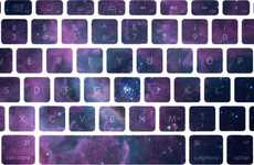 Nebular Keyboard Decals