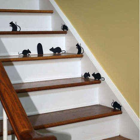 Creepy Rodent Wall Stickers