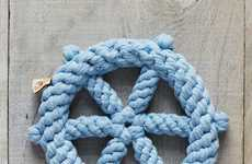 Nautically-Themed Chew Toys - These Roped West Elm Pet Accessories Embody a Preppy Aesthetic
