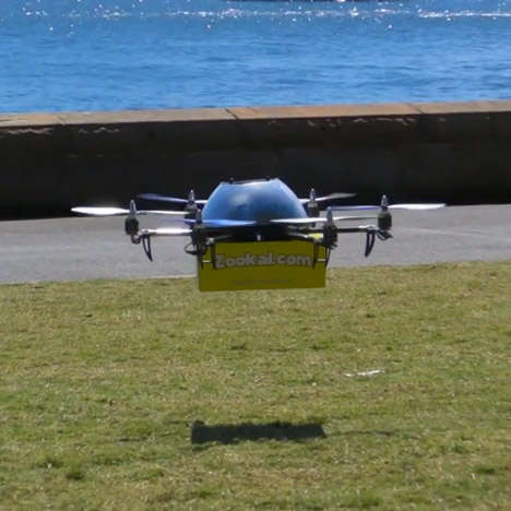 Book Delivery Drones - The Zookal Textbook Drones Make Ordering Required Readings a Breeze