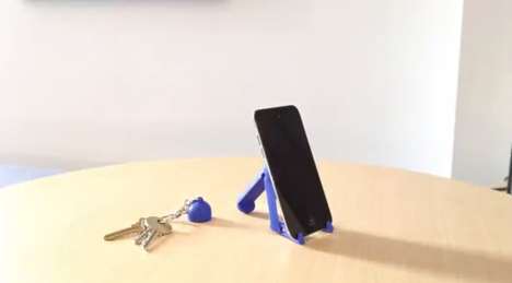Keychain-Sized Phone Stands