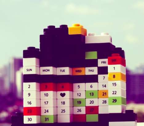 Customizable Building Block Calendars