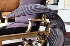 Canine Chaise Loungers - This Modern Pet Furniture is Practical and Elegant in its Design