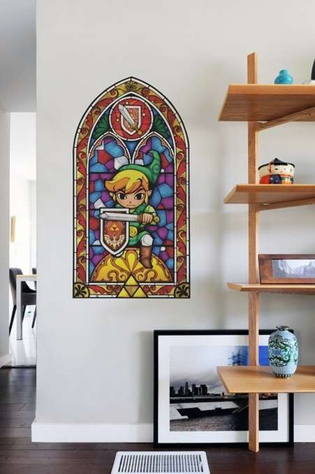 The Zelda Wind Waker Stained Glass Decal is Perfect for Your Man Cave