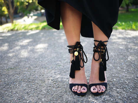 Frilly DIY Heels - Add Tassels to a Classic Pair of Black Heels with This Fun DIY Guide