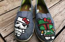 Sci-Fi Kitty Slippers - Combine Your Love for Star Wars and Hello Kitty with These Adorable Shoes