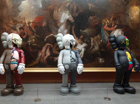 Juxtaposed Pop Art Exhibits