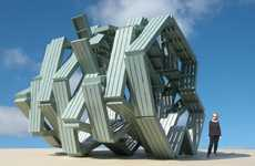 Functional Art Retreats - The Zig Zag Pavilion by Michael Jantzen Studio is Utterly Abstract