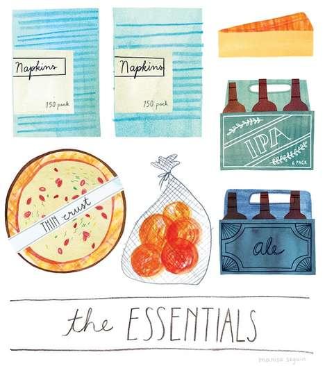 Illustrated Food Lists