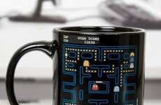 Magical Arcade Game Mugs - Watch the Pac-Man Characters Appear as You Pour in Your Java