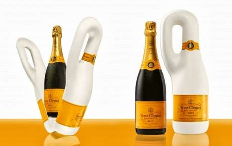 Biodegradable Champagne Sheaths - Naturally Clicquot is an Eco-Friendly Champagne Bottle Packaging