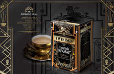 30s-Inspired Tea Packaging - This Deco English Breakfast Tea Box Honors Twining's 80th Anniversary