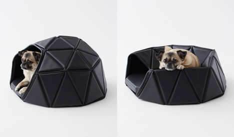 Transformative Geometric Pet Beds