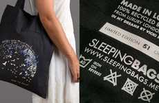 Upcycled Hotel Linen Bags - The Marriott Bed Linen Tote Turns Old Sheets into New Totes