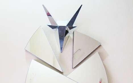 Cracked Origami Reflectors
