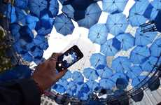 Wifi-Providing Umbrella Installations - O2's Free Wifi Spot Provides Tons of Internet Coverage