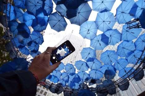 Wifi-Providing Umbrella Installations