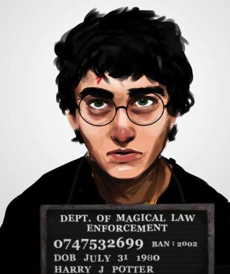Banned Book Character Mugshots