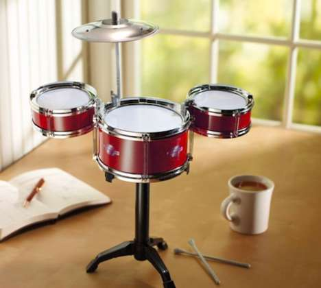 Rock Out in the Office with the Desktop Drum Set