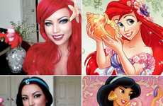 Surreal Disney Princess Makeovers - Youtube User Dope2111 Turned Herself into Real Disney Belles