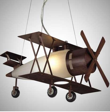 Vintage Aircraft Lamp