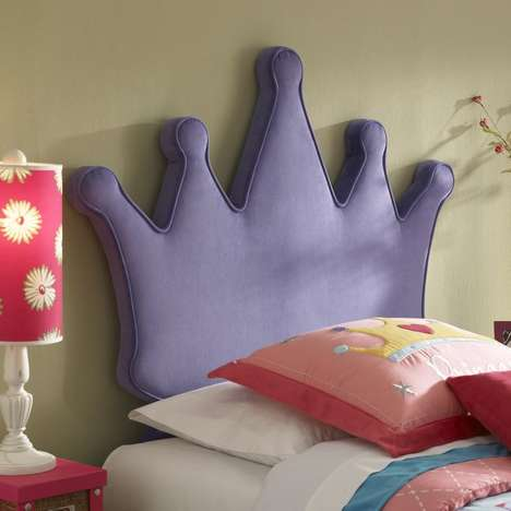 Imperial Bedroom Accessories - The Princess Crown Headboard Adds an Aristocratic Touch
