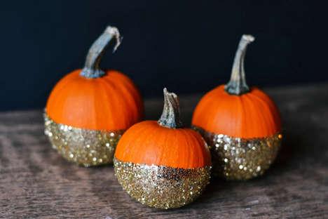 Festive DIY Glitter Pumpkins