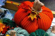 Upcycled Sweater Pumpkins