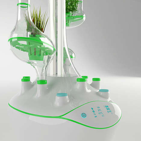 Hi-Tech Hydroponic Planters - The PlanTree Helps You Grow Quality Organic Food in Your Own Home