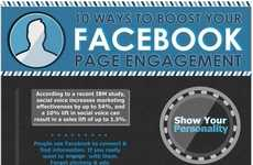 Facebook Page Engagement Infographics - This Chart Depicts 10 Ways to Boost Social Media Interaction