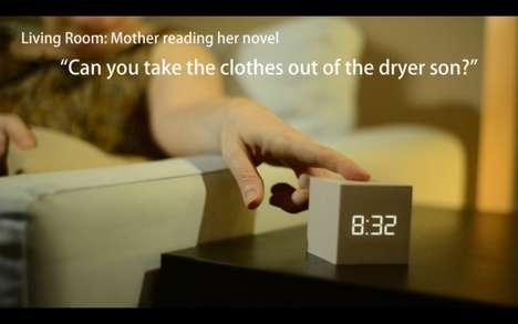 Communication-Encouraging Alarm Clocks
