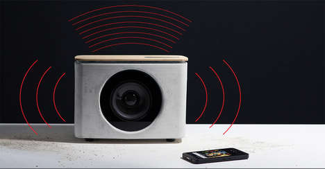 Tactile Concrete Speakers